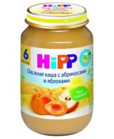 HIPP Пюре 190г Овсяная каша/Абрикос/Яблоко