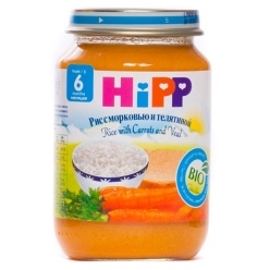 HIPP Пюре 190г Рис/Морковь/Телятина