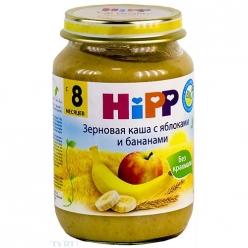 HIPP Пюре 190г Зерновая каша/Яблоко/Банан