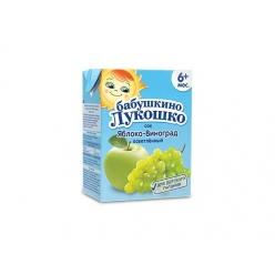 Бабушкино Лукошко сок яблоко, виноград - тетрапак 200 мл.