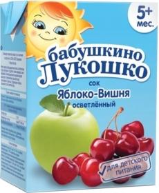 Бабушкино Лукошко сок яблоко-вишня - тетрапак 200 мл.