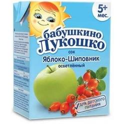 Бабушкино Лукошко сок яблоко-шиповник - тетрапак 200 мл.