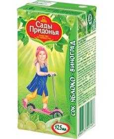 Сады Придонья Сок 0,125л Яблоко/Виноград