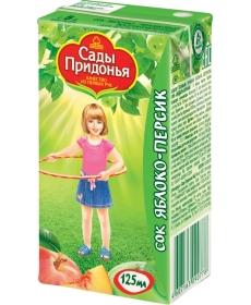 Сады Придонья Сок 0,125л Яблоко/Персик