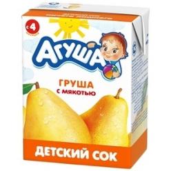 Агуша Сок Груша/Мякоть 200мл
