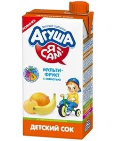 Агуша Сок Я САМ! Мультифрукт  500мл