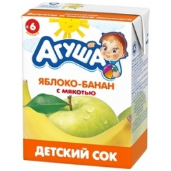 Агуша Сок Яблоко/Банан 200мл