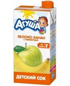 Агуша Сок Яблоко/Банан/Мякоть 500мл