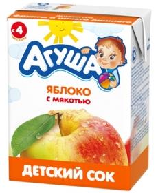Агуша Сок Яблоко/Мякоть 200мл