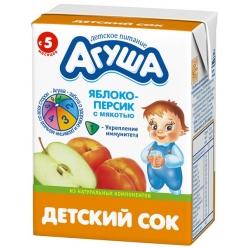 Агуша Сок Яблоко/Персик/Мякоть 200мл