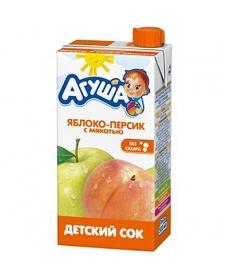 Агуша Сок Яблоко/Персик/Мякоть 500мл
