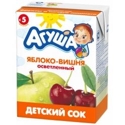 Агуша Сок Яблоко/Вишня 200мл