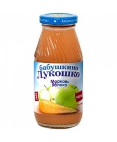 Бабушкино Лукошко 200мл Нектар Морковь/Яблоко/Мякоть