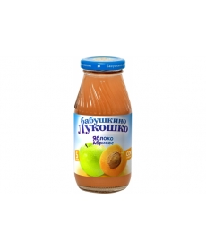 Бабушкино Лукошко 200мл Сок Яблоко/Абрикос/Мякоть
