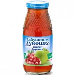 Бабушкино Лукошко 200мл Сок Яблоко/Брусника Осветлённый