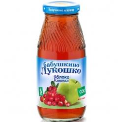 Бабушкино Лукошко 200мл Сок Яблоко/Клюква Осветлённый