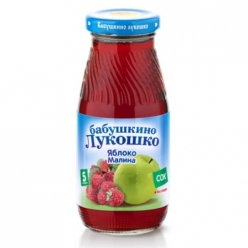 Бабушкино Лукошко 200мл Сок Яблоко/Малина Осветлённый
