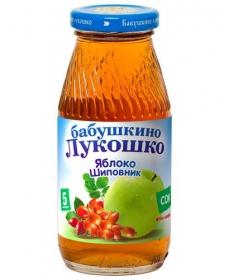 Бабушкино Лукошко 200мл Сок Яблоко/Шиповник Осветлённый