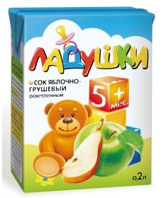 Ладушки 0,2л Сок Яблоко/Груша/ОСВ