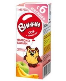 Винни Сок 200 Яблоко/Банан/Мякоть