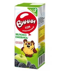 Винни Сок Осветлённый Яблоко/Ежевика 200мл