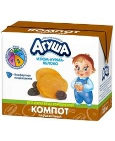 Агуша Компот Курага/Изюм/Яблоко 200мл
