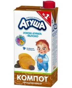 Агуша Компот Курага/Изюм/Яблоко 500мл