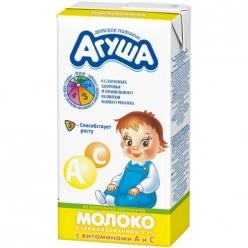 Агуша Молоко 500г Витамин А и С 3,2%