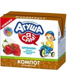 Агуша Напиток сокосод. Я САМ! Яблоко/Клубника/Ч.ряб 200мл