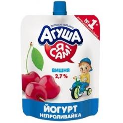 Агуша Я САМ! йогурт Вишня 85г