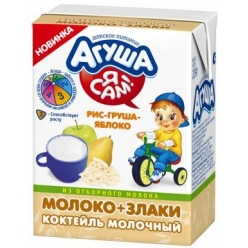 Агуша Я САМ! Коктейль 209г Мол/злаки Рис/яблоко/груша