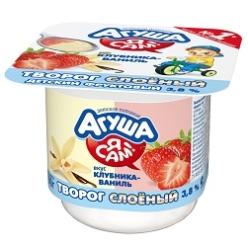 Агуша Я САМ! Творог 100г Клубника/Ваниль