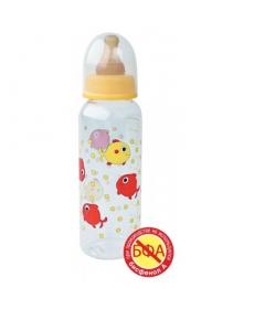 Мир Детства - Бутылочка с латексной соской, 250 мл