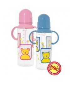 Мир Детства - Бутылочка с ручками и силиконовой соской, 250 мл