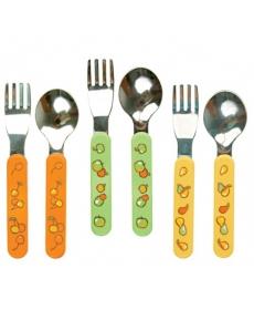 Мир Детства - Набор для кормления ,вилочка и ложечка из нержавеющей стали 12+