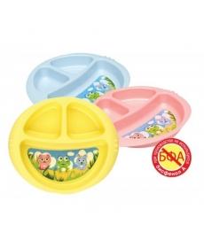 Мир Детства - Детская тарелочка трехсекционная