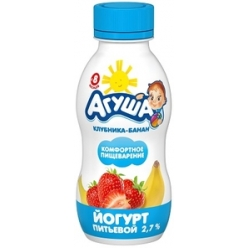 Агуша йогурт 200г Клубника/Банан