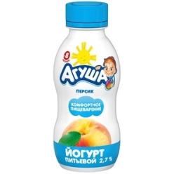 Агуша йогурт Персик 200г
